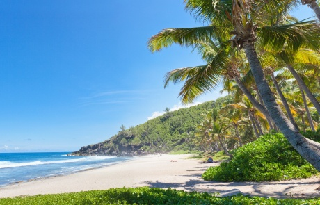 plage tropicale de Grande Anse, île de la Réunion